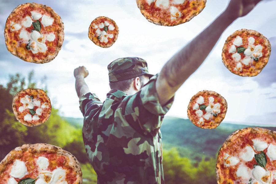 """Arriva la pizza """"da combattimento"""" che dura tre anni"""