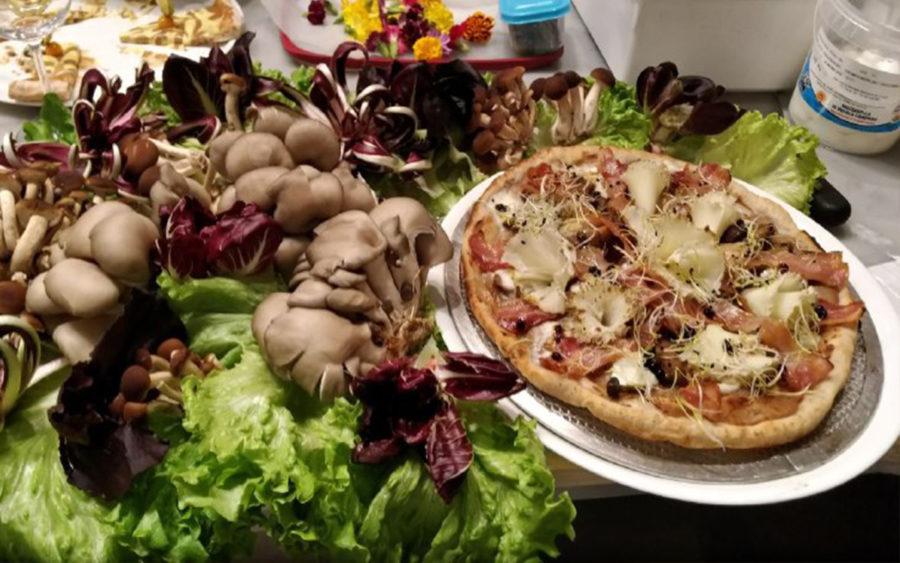 Shiitake pizza salutare fungo ricco di vitamina D